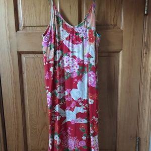 Spell red slip dress - size M